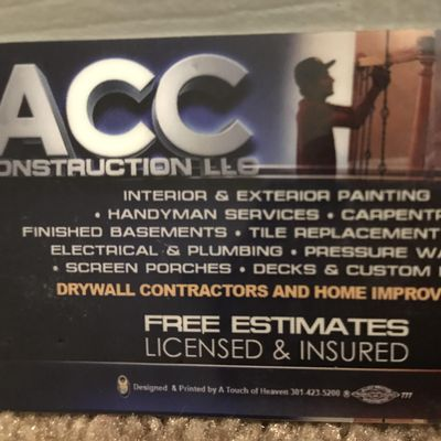 Avatar for ACC Construction LLC Mc Lean, VA Thumbtack