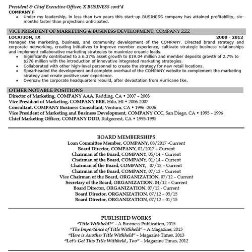 Executive/C-Suite Resume Page 2