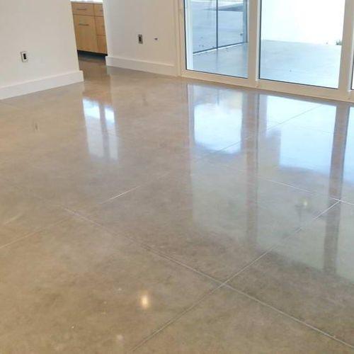 Advance Industrial Coatings Concrete Polishing Work