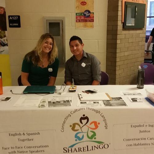 ShareLingo tabling event at North High School.