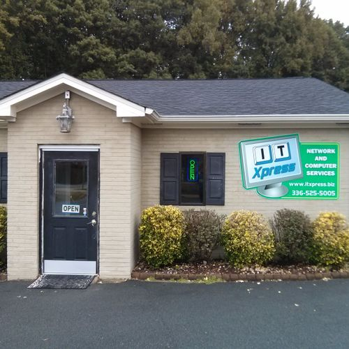 Our shop is located on the corner of 3rd St and Corregidor St near the Mebane Arts & Community Center