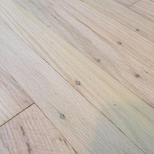 'Virgin' exposed wood