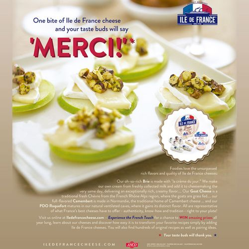 Copy for consumer magazine ad for gourmet cheese company - client is interactive agency in NYC