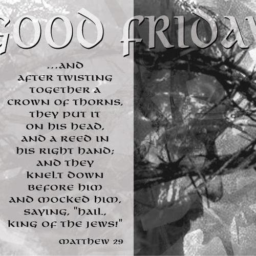 Good Friday cover for church bulletin