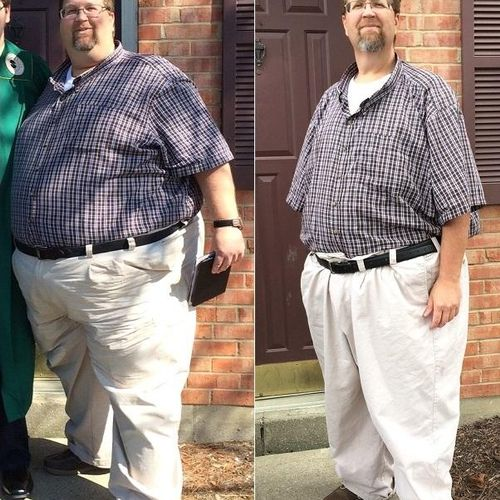 Star client! This is 150lbs lost!