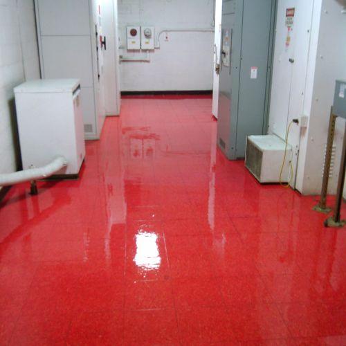 Retail floor refinishing