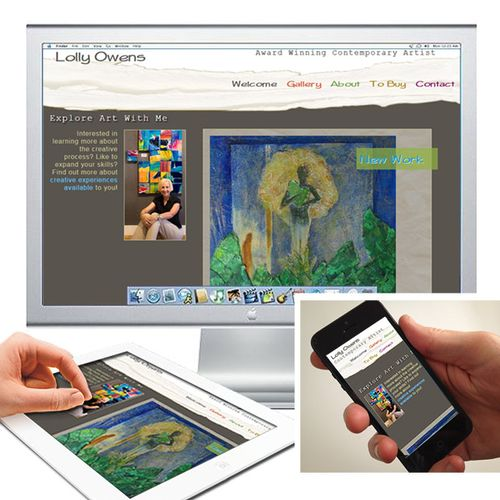 Key Points: Artwork driven look and feel, multiple artwork presentation styles