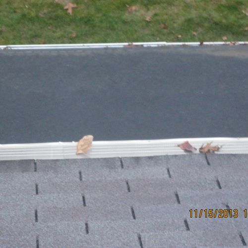 Another gutter system that will no longer have leaf issues!