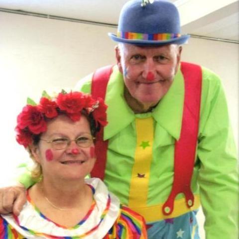 Mr. and Mrs. Glory Clown