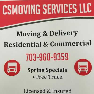 Avatar for CSMOVING SERVICES LLC Arlington, VA Thumbtack