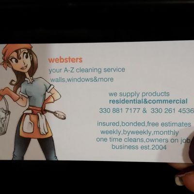 Avatar for Webster's Cleaning Campbell, OH Thumbtack