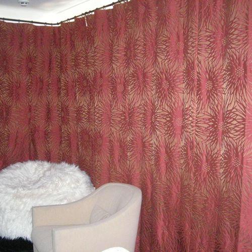 drapes in media room