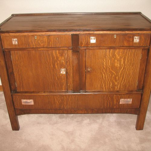 After - Cabinet damaged by fire