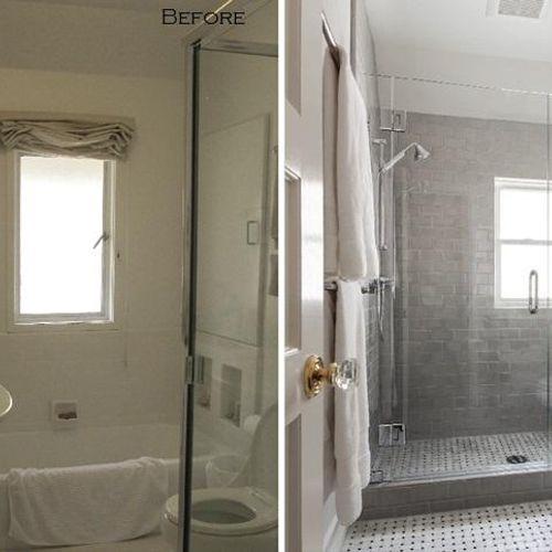 Before and after bathroom remodel - We offer complete bathroom remodeling services