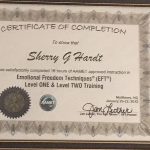 Emotional Freedom Technique Certificate