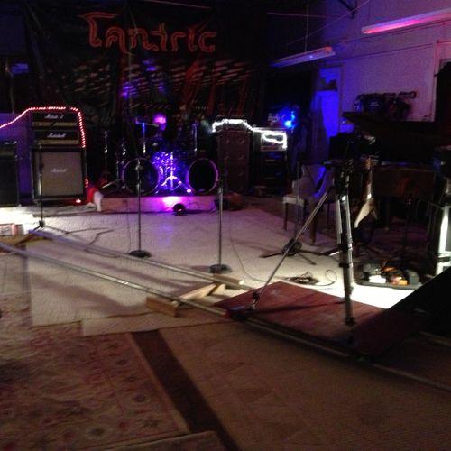 camera track setup for music video