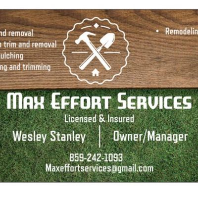 Avatar for Max Effort Tree Trimming and Removal California, KY Thumbtack