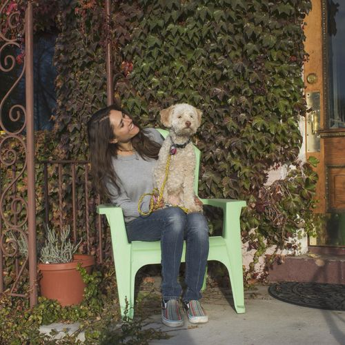 Me and my hound, Barley :)