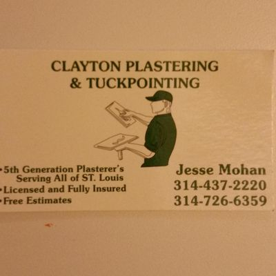 Avatar for Clayton Plastering & Tuckpointing Saint Louis, MO Thumbtack
