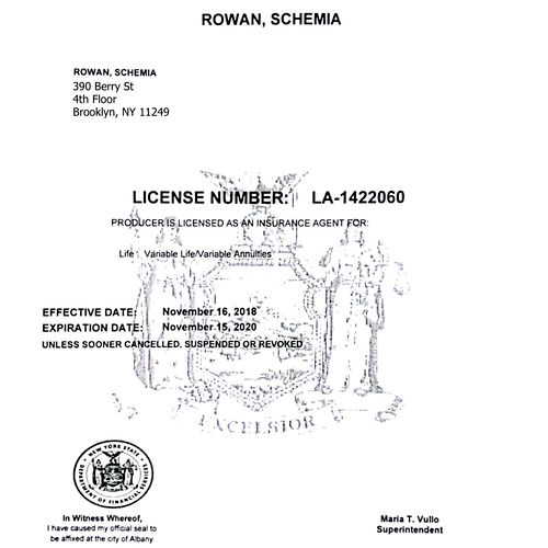 NY Department of Finance License