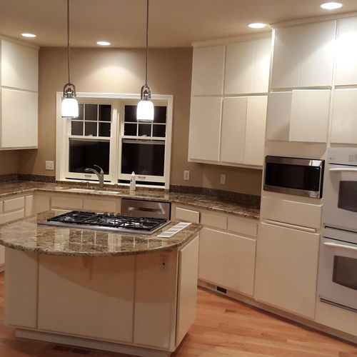 Kitchen cabinets after painting