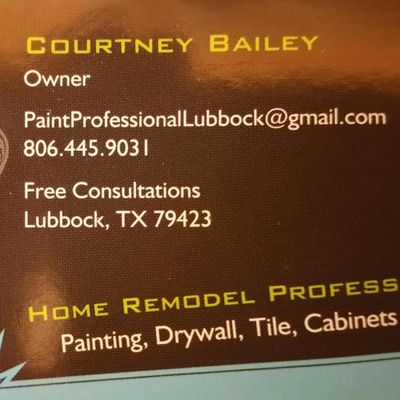 Avatar for Courtney Bailey's Paint and Home Remodeling Professional Lubbock, TX Thumbtack