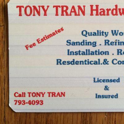Avatar for Tony Tran Hardwood Floor