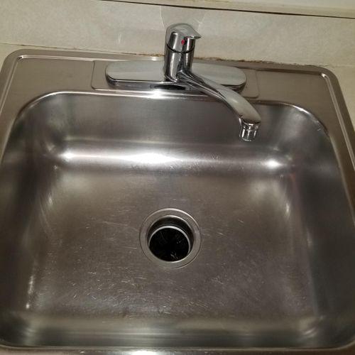 sink after