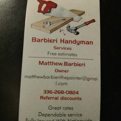 Avatar for Barbieri Handyman's Services Greensboro, NC Thumbtack
