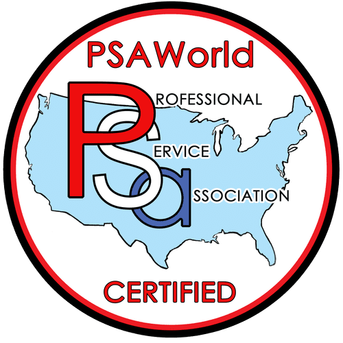 We are PSA World Certified.