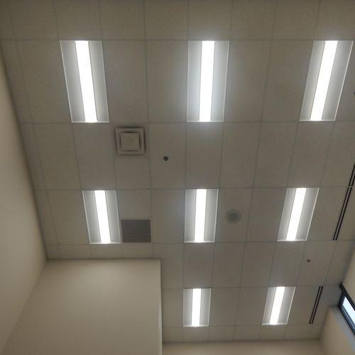 New LED Energy Efficient Office Lighting