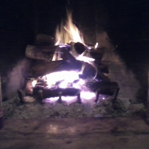 Stay warm with a fall fire at the  farmhouse B $ B