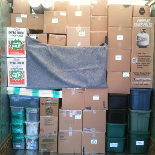 """Our customers call us the """"Tetris Masters"""" when it comes to stacking and packing trucks!"""