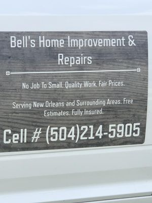 Avatar for Bell's Home Improvement And Repairs
