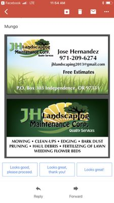 Avatar for Jh landscaping maintenance corp