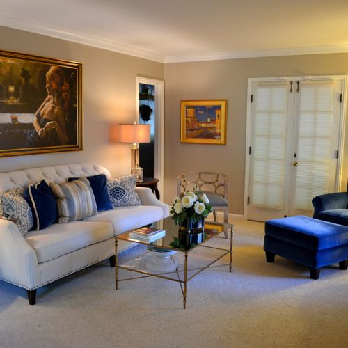 Old Orchard Living Room around an Existing Painting