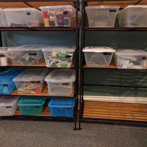 Alphabetically sorted shelves