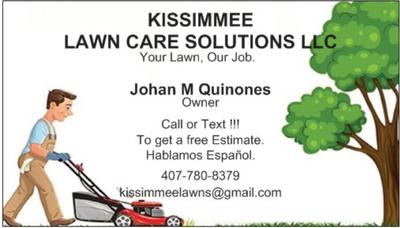 Avatar for KISSIMMEE LAWN CARE SOLUTIONS LLC Kissimmee, FL Thumbtack