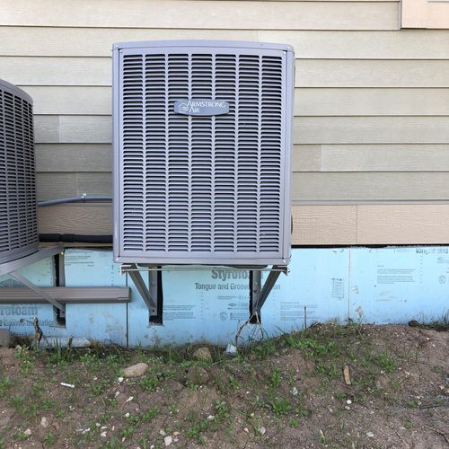 Air conditioners can be put on brackets