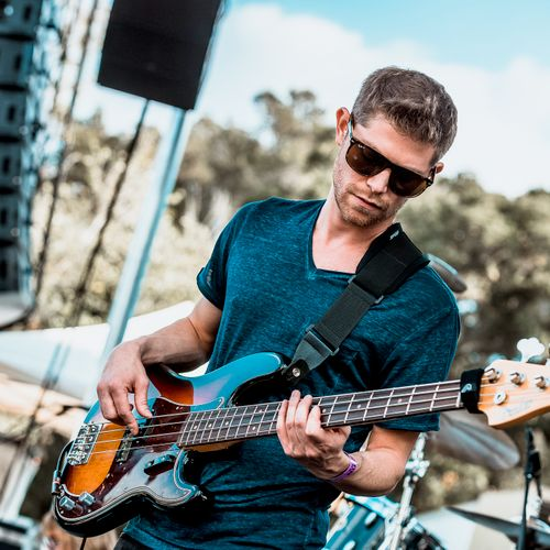 Playing bass w/Brown & Gray