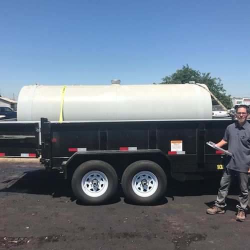 Large items, not a problem! 5' x 15' 1000 gallon fuel tank.