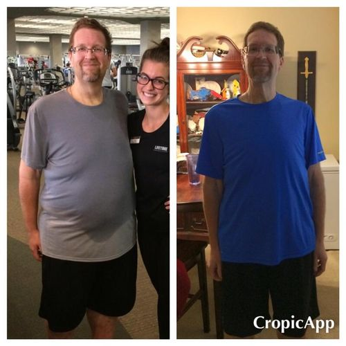 Same star client at 250lbs lost and 300 lbs lost!!