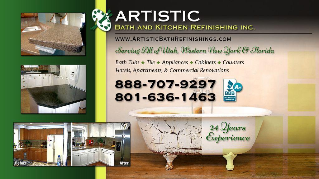 Artistic Bath Kitchen Refinishing Sandy Ut