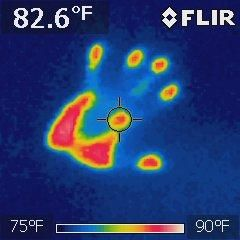 we use thermal imaging to find water source