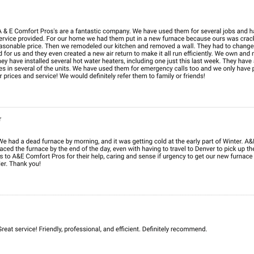 Our Google Reviews. We are a 5 Star Company!