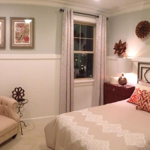 Room in a model home