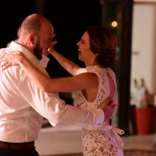 Sarah and Matt rocking the nightclub 2-step at their wedding!