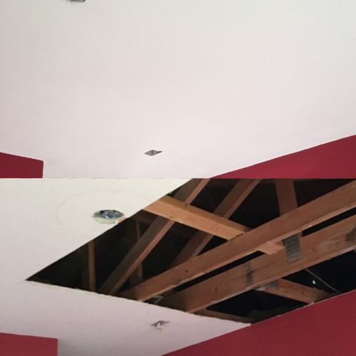 Before & After - Ceiling Water Damage