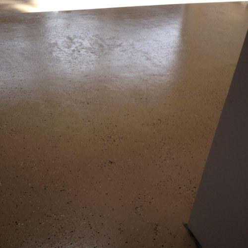 After garage floor