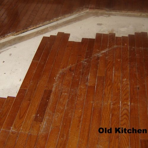 Kitchen remodel (1) - floor at start of demo